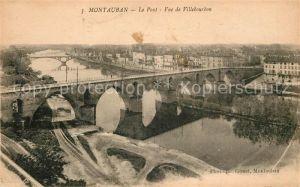 AK / Ansichtskarte Montauban Pont vue de Villebourbon Kat. Montauban
