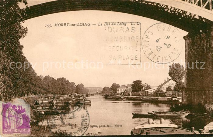 AK / Ansichtskarte Moret sur Loing Le Bas du Loing Pont Kat. Moret sur Loing