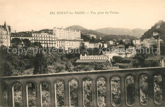 AK / Ansichtskarte Royat les Bains Vue prise du Viaduc
