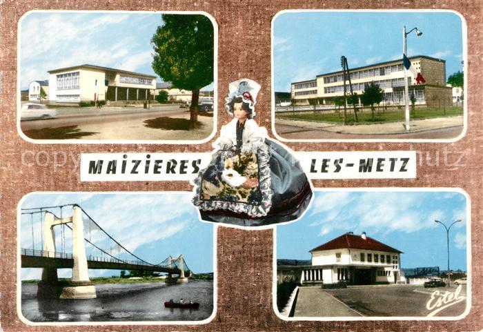 AK / Ansichtskarte Maizieres les Metz Centre administratif Groupe scolaire Victor Hugo Point de Hauconcourt La gare Kat. Maizieres les Metz