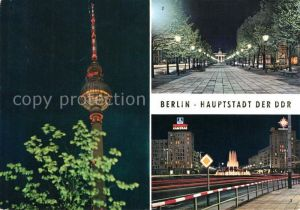 AK / Ansichtskarte Berlin Fernsehturm Brandenburger Tor Strausberger Platz Kat. Berlin