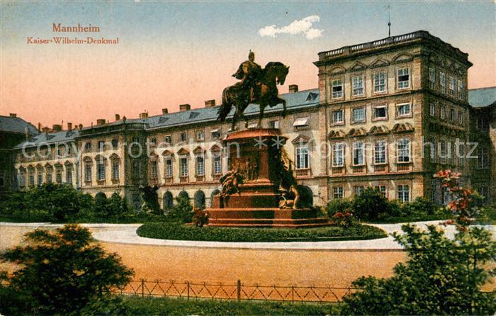 AK / Ansichtskarte Mannheim Kaiser Wilhelm Denkmal Kat. Mannheim