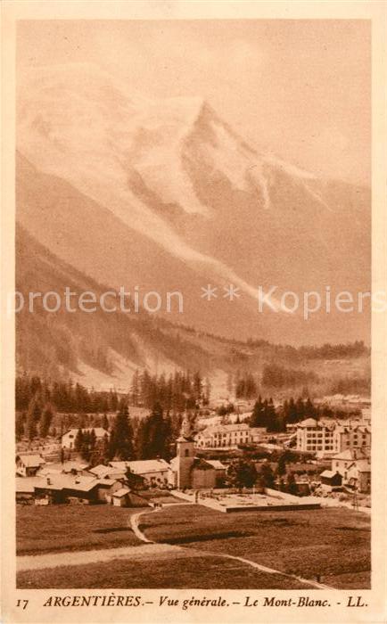 AK / Ansichtskarte Argentiere Haute Savoie Le Mont Blanc Kat. Chamonix Mont Blanc