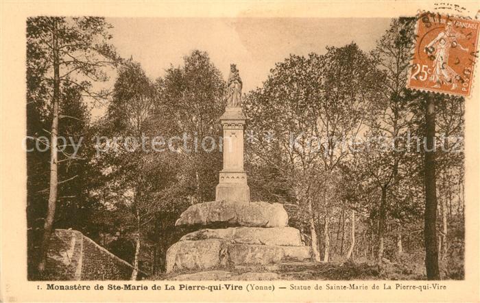 AK / Ansichtskarte Pierre qui Vire La Monastere de Ste Marie Kat. La Chapelle du Mont de France