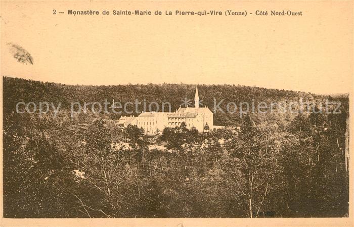 AK / Ansichtskarte La Pierre qui Vire Monastere de Sainte Marie Kat. La Chapelle du Mont de France