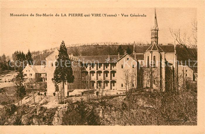 AK / Ansichtskarte La Pierre qui Vire Monastere de Ste Marie Kat. La Chapelle du Mont de France