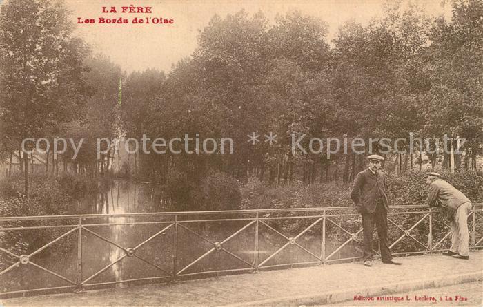 AK / Ansichtskarte La Fere Aisne Les Bords de l`Oise Kat. La Fere