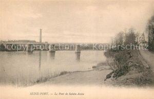 AK / Ansichtskarte Seine Port Pont de Sainte Assise Kat. Seine Port
