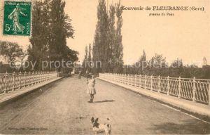 AK / Ansichtskarte Fleurance Avenue du Pont Kat. Fleurance