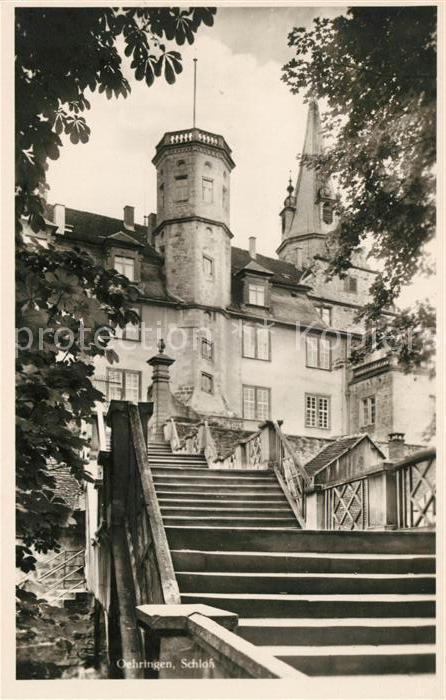AK / Ansichtskarte oehringen Hohenlohe Schloss Kat. oehringen