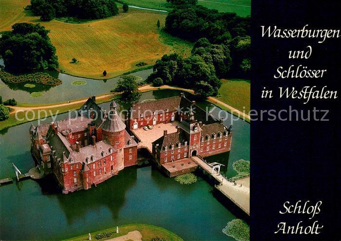 AK / Ansichtskarte Anholt Schloss Anholt Fliegeraufnahme Kat. Isselburg