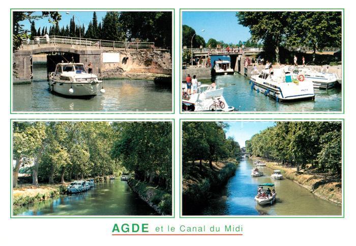 AK / Ansichtskarte Agde Ecluse ronde sur le Canal du Midi et les canaux qui y menent Kat. Agde