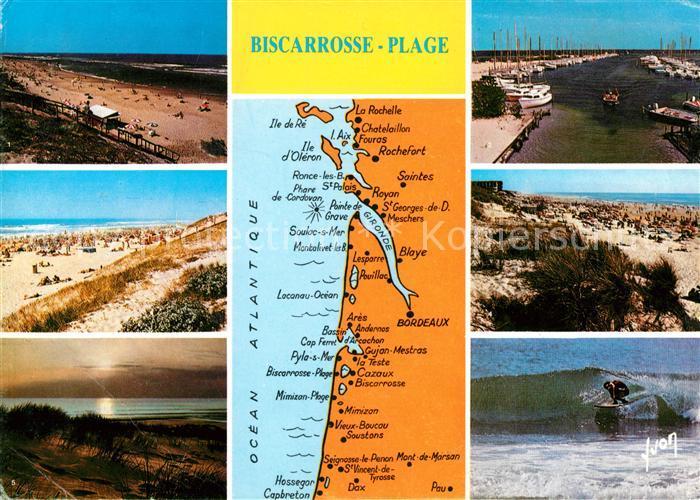 AK / Ansichtskarte Biscarrosse Plage La Plage Le Port de Port Maguide Dans les Dunes Surf Kat. Biscarrosse