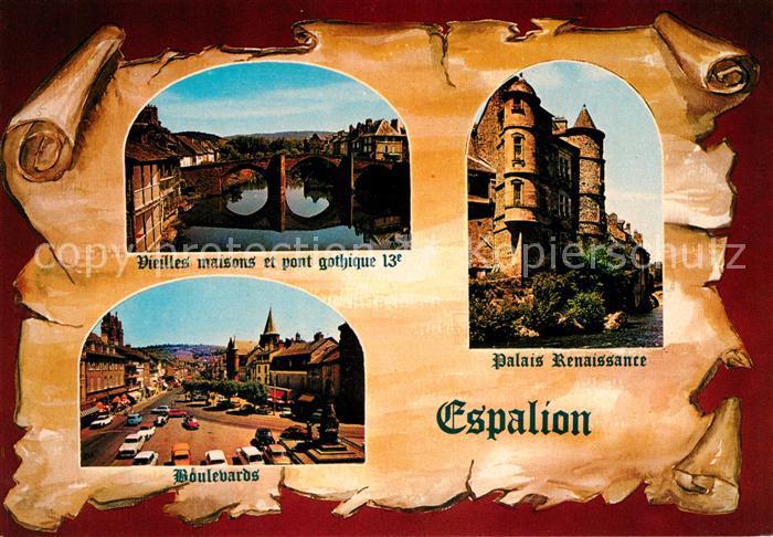 AK / Ansichtskarte Espalion Vieilles maisons et pont gothique Boulevards Palais Renaissance Kat. Espalion