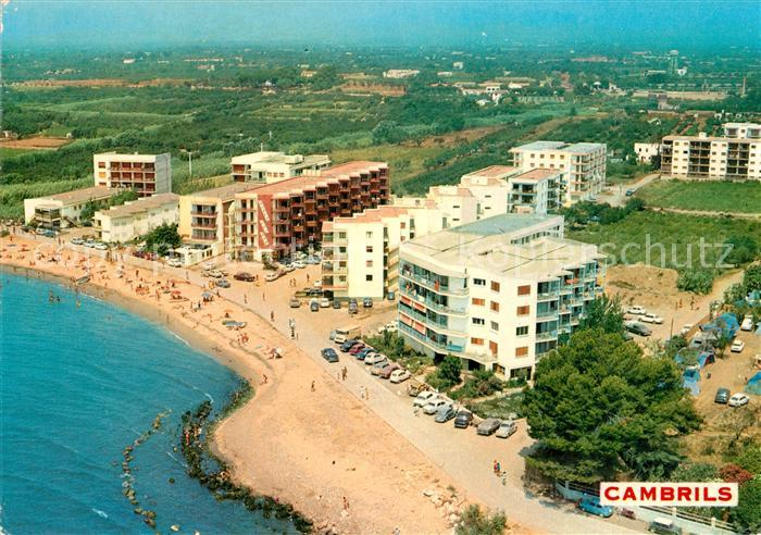 AK / Ansichtskarte Cambrils Strand Hotels Fliegeraufnahme Kat. Costa Dorada