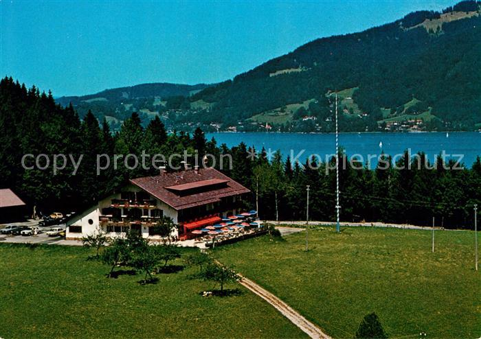 AK / Ansichtskarte Bad Wiessee Berggasthof Sonnenbichl Blick zum Tegernsee Kat. Bad Wiessee