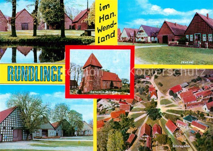 AK / Ansichtskarte Schreyahn Rundlinge im Hann. Wendland Kirche Kat. Wustrow (Wendland)
