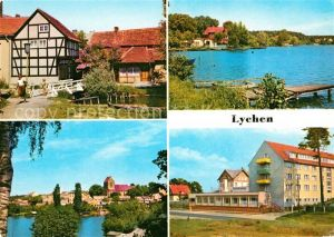 AK / Ansichtskarte Lychen Malerwinkel Oberpfuhlsee Stadtsee FDGB Erholungsheim Bertold Brecht Kat. Lychen