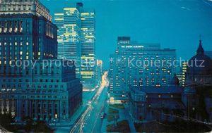 AK / Ansichtskarte Montreal Quebec Night view of Dorchester Street Kat. Montreal