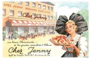 AK / Ansichtskarte Paris Chez Jenny Brasserie Alsacienne Kat. Paris