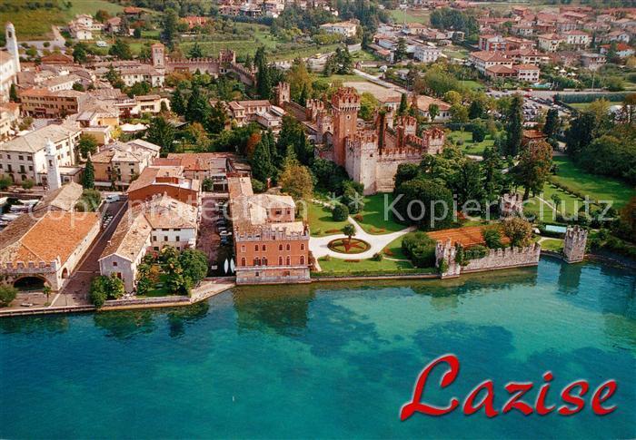 Karte Gardasee Lazise.Ak Ansichtskarte Lazise Lago Di Garda Gardasee Fliegeraufnahme Kat Lazise