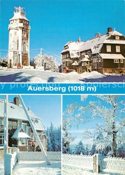 AK / Ansichtskarte Auersberg Wildenthal Aussichtsturm Berghotel Winterlandschaft Kat. Eibenstock