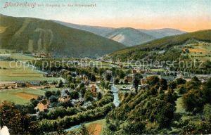 AK / Ansichtskarte Blankenburg Bad Panorama Schwarzatal Kat. Bad Blankenburg