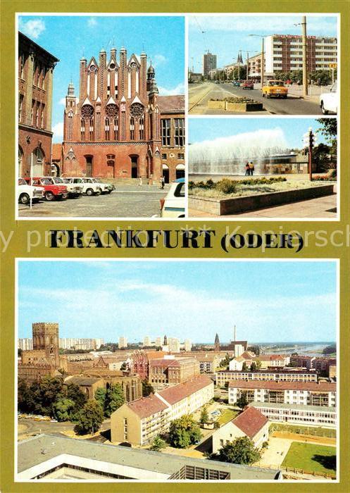 AK / Ansichtskarte Frankfurt Oder Rathaus Karl Marx Strasse Wasserspiele Teilansicht Kat. Frankfurt Oder