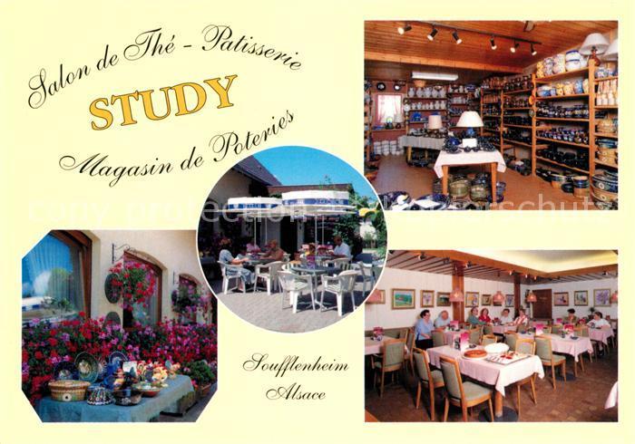 AK / Ansichtskarte Soufflenheim Salon de The Patisserie Study Kat. Soufflenheim