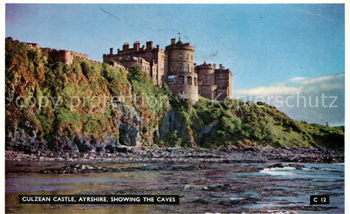 AK / Ansichtskarte South Ayrshire Culzean Castle showing the caves Kat. South Ayrshire