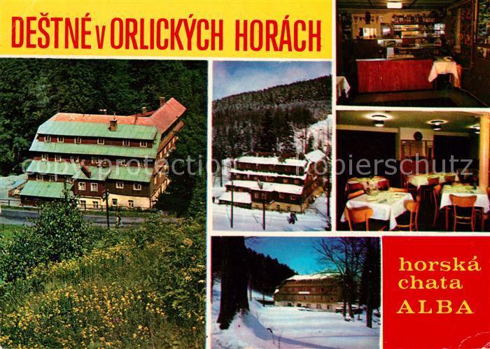 AK / Ansichtskarte Orlickych Hor Hotel Alba Winter
