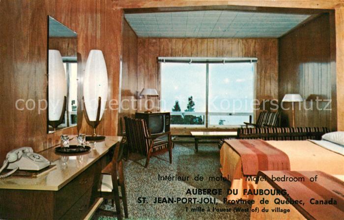AK / Ansichtskarte Saint Jean Port Joli Auberge du Faubourg Motel bedroom