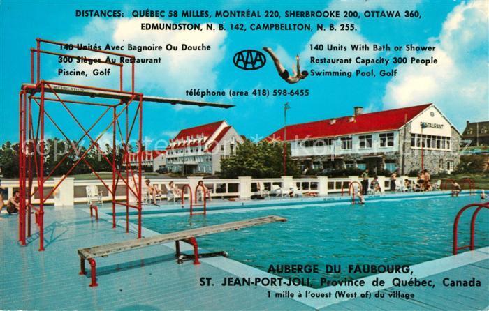 AK / Ansichtskarte Saint Jean Port Joli Auberge du Faubourg Swimming Pool