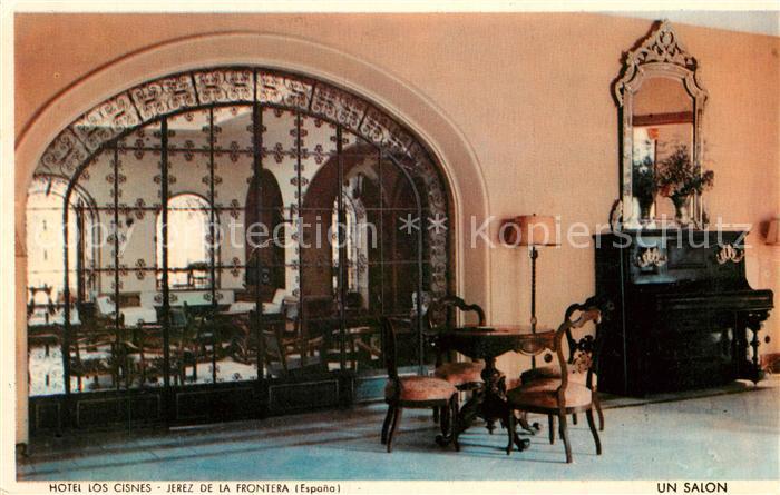 AK / Ansichtskarte Jerez de la Frontera Hotel Los Cisnes un salon Kat. Jerez de la Frontera