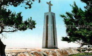 AK / Ansichtskarte Almada Monumento o Cristo Rei Statue Kat. Almada