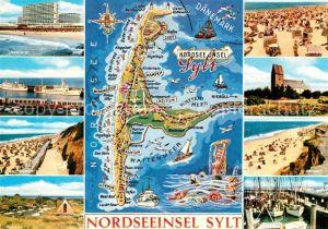 AK / Ansichtskarte Sylt Strand Hafen  Kat. Sylt Ost