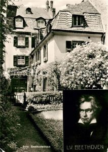 AK / Ansichtskarte Beethoven Bonn Beethovenhaus Kat. Persoenlichkeiten