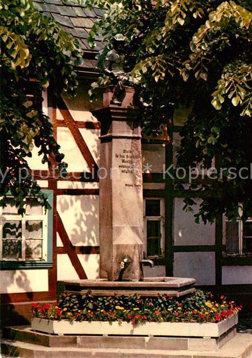 AK / Ansichtskarte Holzminden Weser Wilhelm Raabe Brunnen Kat. Holzminden