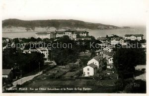 AK / Ansichtskarte Hendaye Pyrenees Atlantiques Vue sur Hotel Eskualduna et la Pointe du Cap Figuier Kat. Hendaye