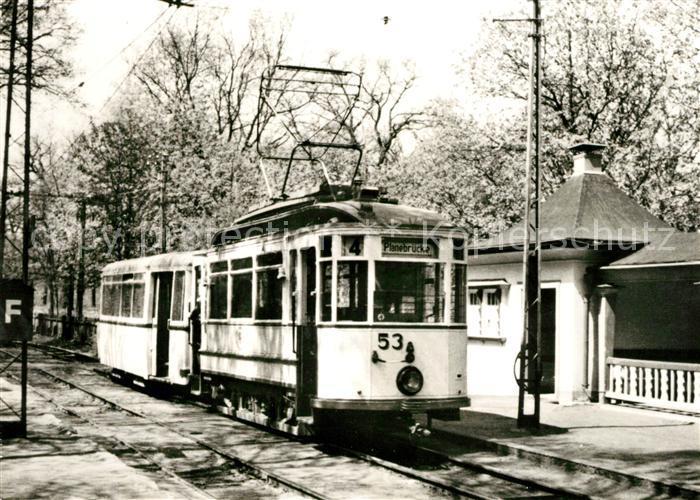 AK / Ansichtskarte Strassenbahn Brandenburg Tw 53 Bw 73 Endstelle Waldcafe Goerden Kat. Strassenbahn