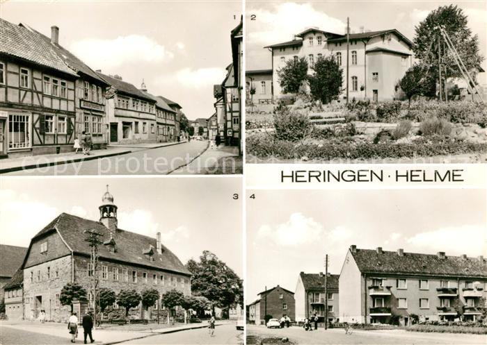 AK / Ansichtskarte Heringen Helme Strasse der Einheit Bahnhof Rathaus Riethgartenstrasse Kat. Heringen Helme