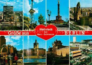 AK / Ansichtskarte Berlin Teilansicht Weltstadt mit Herz + Schnauze Kat. Berlin