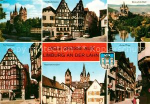 AK / Ansichtskarte Limburg Lahn Dom Bischofsplatz Kornmarkt Rossmarkt Ploetze Altstadt Fachwerkhaeuser Kat. Limburg a.d. Lahn