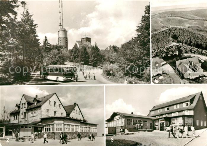 AK / Ansichtskarte Grosser Inselsberg Blick vom Turm HO Gaststaette Inselsberg Berggasthof Stoehr Kat. Brotterode