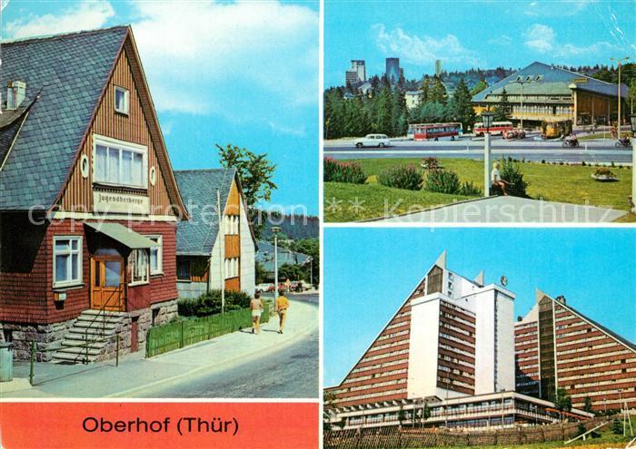 AK / Ansichtskarte Oberhof Thueringen Jugendherberge Platz des Friedens Interhotel Panorama Kat. Oberhof Thueringen
