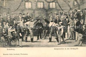 AK / Ansichtskarte Heidelberg Neckar Corpsmensur in der Hirschgasse Kat. Heidelberg
