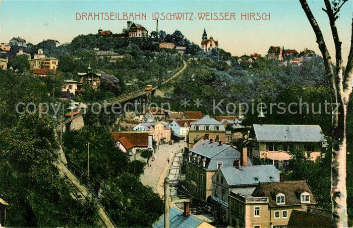 AK / Ansichtskarte Loschwitz Drahtseilbahn Weisser Hirsch Kat. Dresden