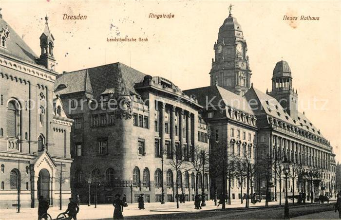 AK / Ansichtskarte Dresden Ringstrasse Rathaus Kat. Dresden Elbe