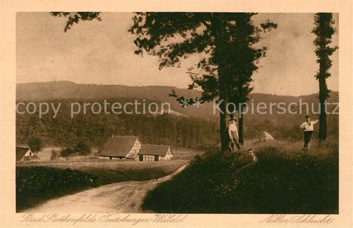 AK / Ansichtskarte Bad Rothenfelde Noller Schlucht Kat. Bad Rothenfelde