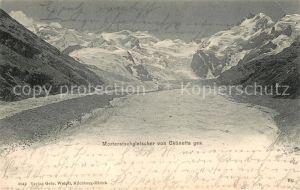 AK / Ansichtskarte Morteratschgletscher Blick von Chuenetta Kat. Morteratsch